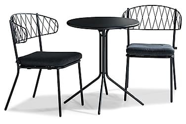 Alexis Cafésæt 60 Rundt + 2 Percy Stol m. Hynde