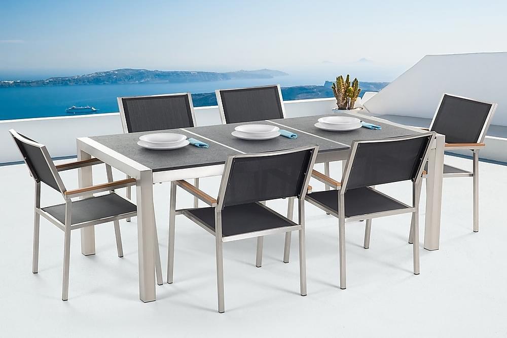Bacoli Spisebordssæt 180 cm + 6 Stole - Grå - Havemøbler - Havesæt - Komplette havesæt