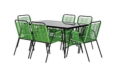 Cava Bord 140 + 6 Stole Grøn