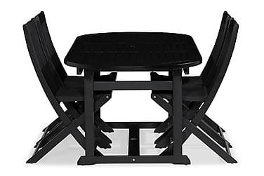 Dalarö Spisebordssæt 150-200x72 Oval + 4 Klapstole