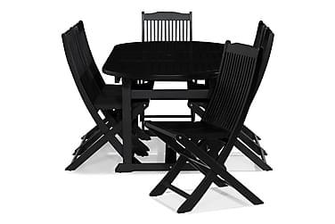 Dalarö Spisebordssæt 150-200x72 Oval + 6 Klapstole