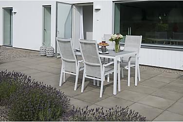 Hillerstorp Hånger Spisebordsæt 80x140 + 4 Positionsstole