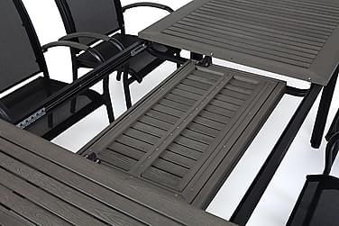 Hillerstorp Nydala Spisebordsæt 96x200-280 + 8 Armstole