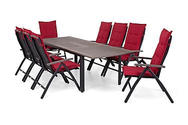 Hillerstorp Nydala Spisebordsæt 96x200-280 + 8 Positionsstol