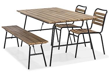Kameleont Spisebordssæt 180x90 + 2 Stole + Bænk