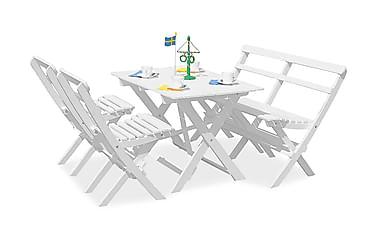 Knohult Spisebordssæt + 2 Sammenfoldelige Stole + Bænk