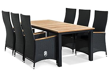 Las Vegas Spisebordsæt 220-280x100 + 6 Jenny Lyx Lænestol
