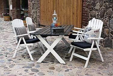 Scottsdale Spisebordssæt 88x170 + 4 Positionsstole