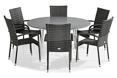 Sierra Havesæt Ø140 + 6 Thor Light Stabelstole
