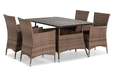 Thor Spisebordssæt 140x90 + 4 Lænestole