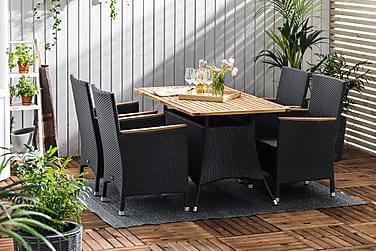Thor Spisebordssæt 140x90 + 4 Thor Lyx Lænestol