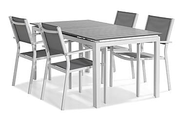 Tunis Spisebordssæt 152-210x90 + 4 Stabelstole
