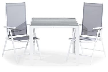 Tunis Spisebordssæt 90x90 + 2 Maggie Positionsstol