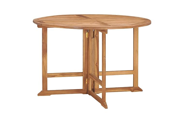 udendørs spisebordssæt 5 dele foldbart massivt teaktræ - Brun - Havemøbler - Havesæt - Komplette havesæt