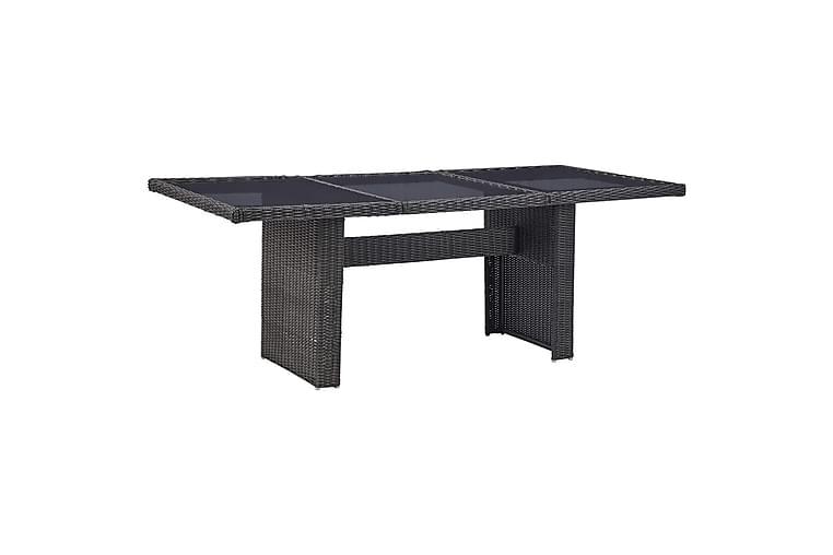 Udendørs Spisebordssæt 7 Dele Polyrattan Sort - Sort - Havemøbler - Havesæt - Komplette havesæt