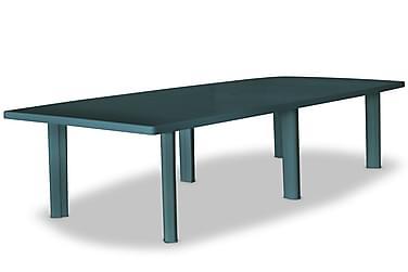 Udendørs Spisebordssæt 9 Dele Plastik Grøn