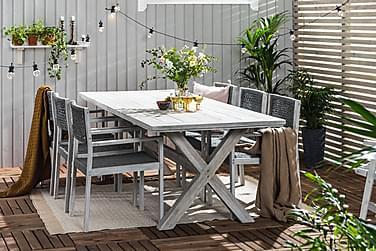 Visby Matgrupp 200x100 + 6 stole