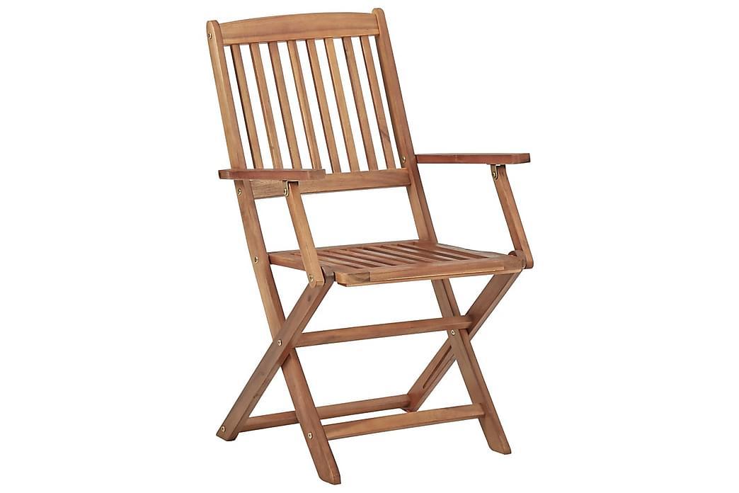 Foldbare Havestole 2 Stk. Massivt Akacietræ - Havemøbler - Stole & lænestole - Positionsstole