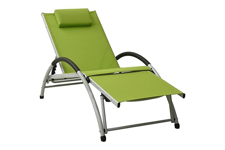 liggestol med pude textilene grøn - Grøn - Havemøbler - Stole & lænestole - Solseng & solvogn