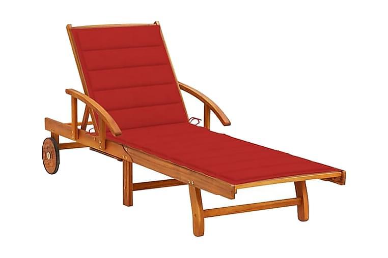 liggestole 2 stk. med hynder massivt akacietræ - Havemøbler - Stole & lænestole - Solseng & solvogn