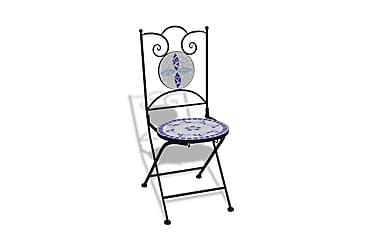 Foldbare Bistrostole 2 Stk. Keramik Blå Og Hvid