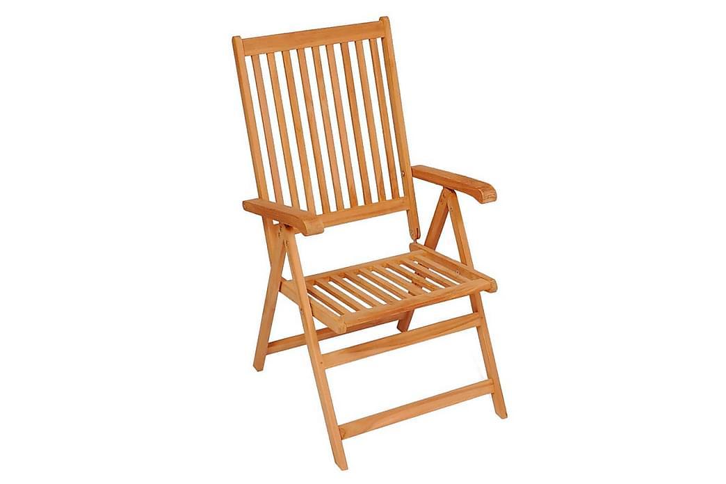 havestole 4 stk. med vinrøde hynder massivt teaktræ - Rød - Havemøbler - Stole & lænestole - Spisebordsstole