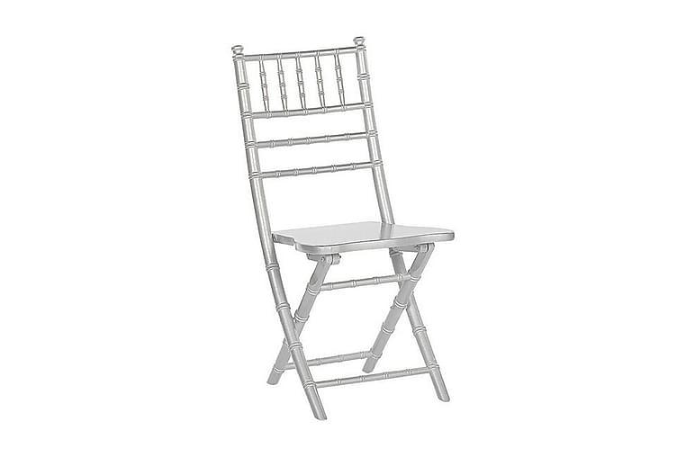 Mahone Stol 4 stk Sammenfoldelig - Sølv - Havemøbler - Stole & lænestole - Spisebordsstole