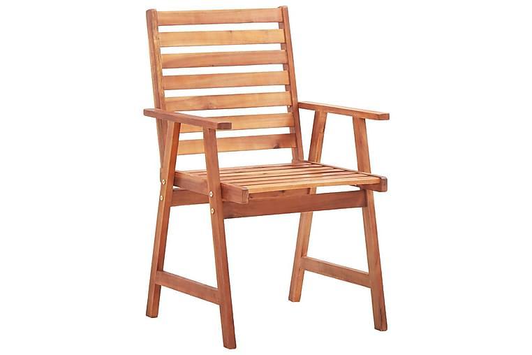 spisebordsstole til haven 6stk. med hynder massivt akacietræ - Brun - Havemøbler - Stole & lænestole - Spisebordsstole