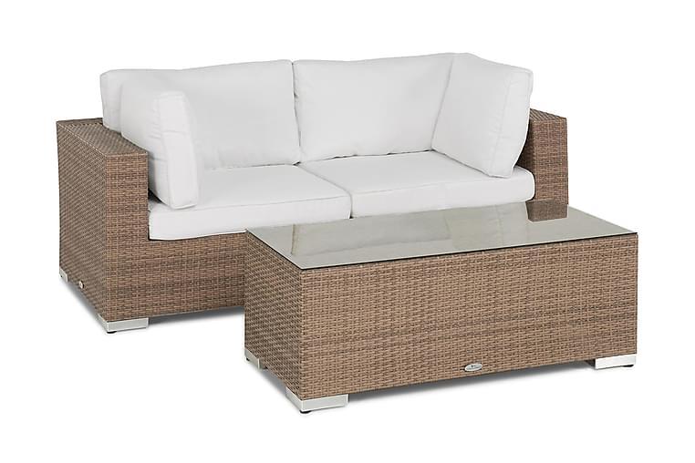 Bahamas Loungesæt 2 Personers + Bord - Sand - Havemøbler - Loungemøbler - Loungesæt