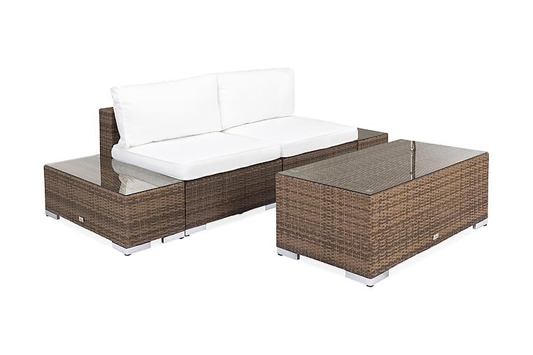 Bahamas Loungesæt 3 personers+Bord - Sand - Havemøbler - Loungemøbler - Loungesæt
