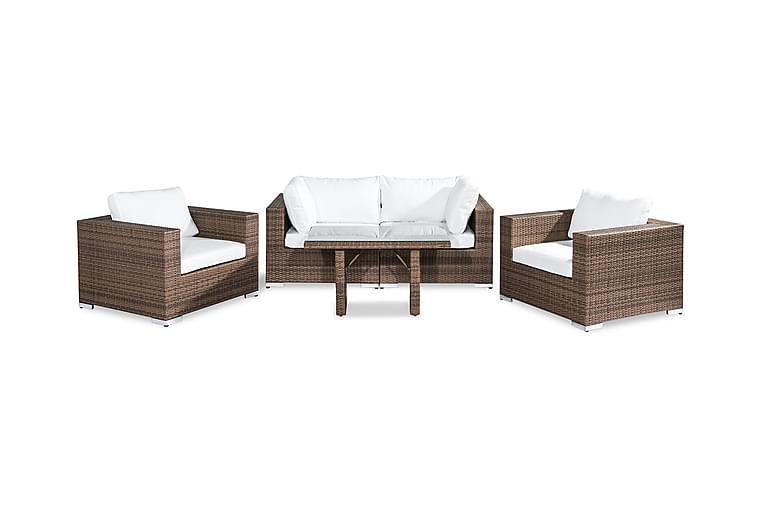 Bahamas Loungesæt 4-Personers - Sand Bord 2 Lænestole - Havemøbler - Loungemøbler - Loungesæt