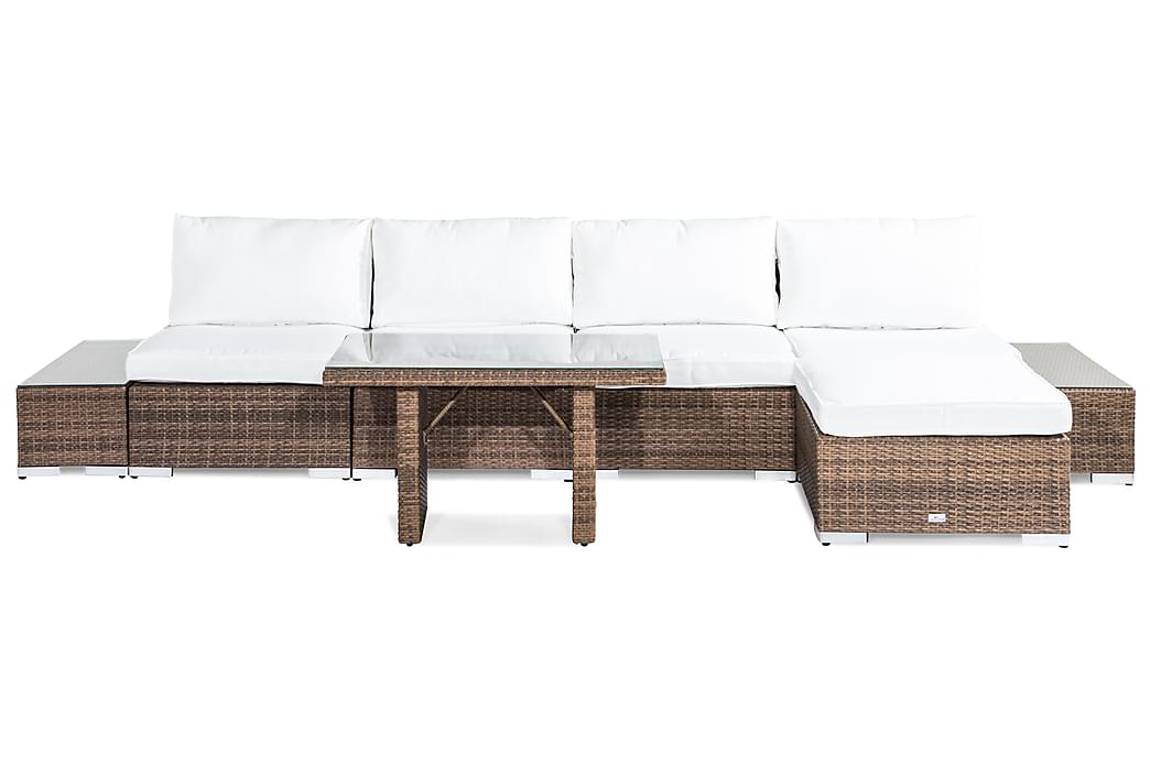 Bahamas Loungesæt 5-personers - Sand Bord Chaiselong Ende - Havemøbler - Loungemøbler - Loungesæt