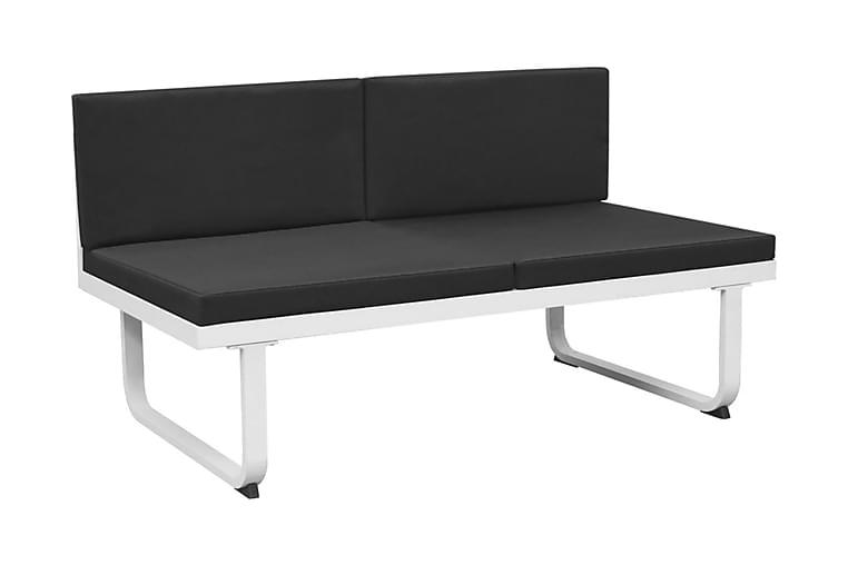 Haveloungesæt 5 Dele Textilene Aluminium Sort - Sort - Havemøbler - Loungemøbler - Loungesæt