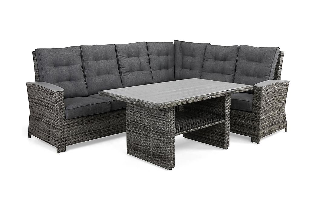 James Lyx Loungesæt Vendbar - Grå - Havemøbler - Loungemøbler - Loungesæt