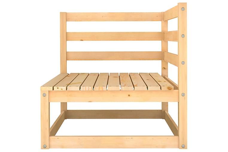 loungesæt til haven 5 dele massivt fyrretræ - Brun - Havemøbler - Loungemøbler - Loungesæt