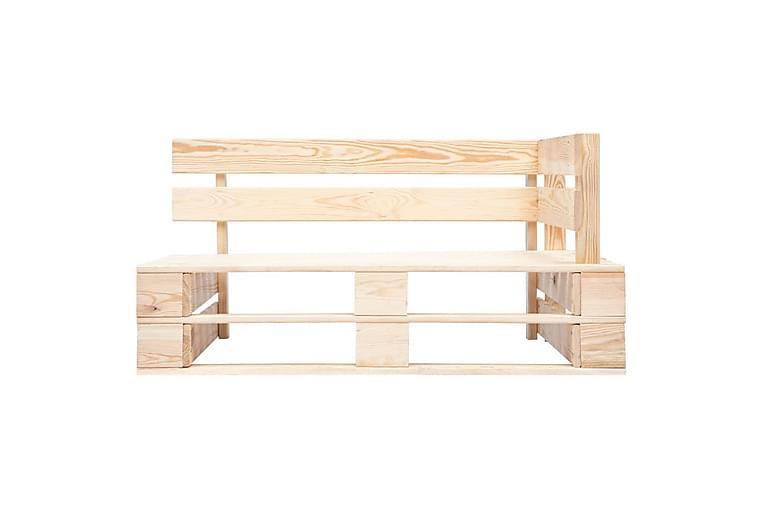 hjørnedel til havesofa træpaller imprægneret fyrretræ - Brun - Havemøbler - Loungemøbler - Moduler