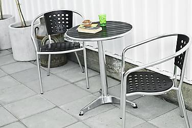 Hillerstorp Alunda Cafésæt 60 Rund + 2 Stapelfeld Stol