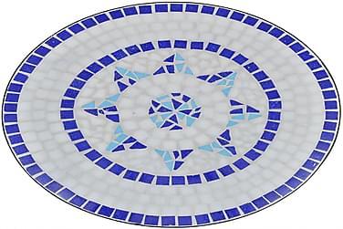 Mosaikbord 60 Cm Blå/Hvid