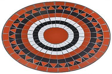 Mosaikbord Terracotta/Hvid 60 Cm