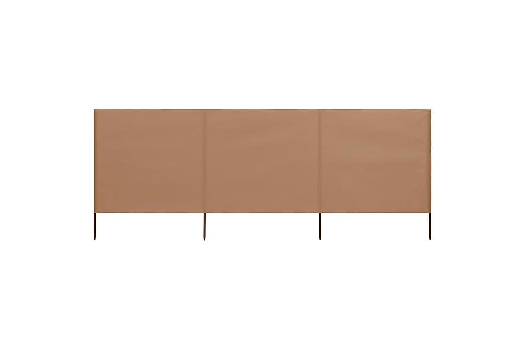 3-Panels Læsejl 400x80 cm Stof Gråbrun - Brun - Havemøbler - Solafskærmning - Afskærmning & vindsejl