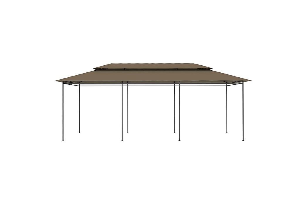 Pavillon 600x298x270 cm 180 g/m² gråbrun - Gråbrun - Havemøbler - Solafskærmning - Havepavilloner