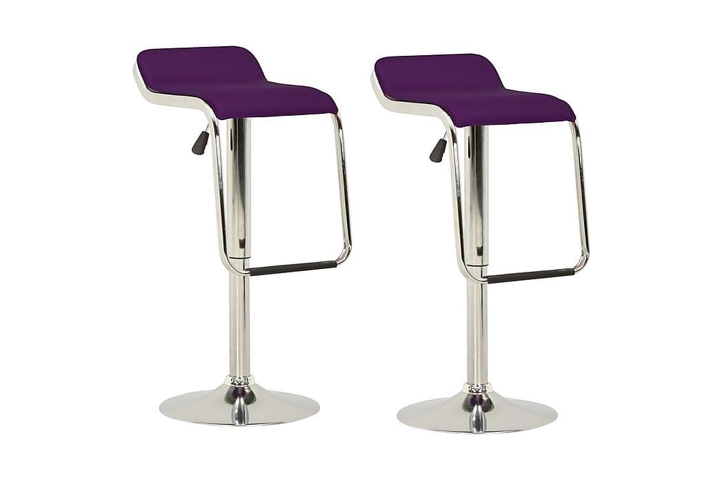 barstole 2 stk. stof og bøjet træ lilla - Violet - Havemøbler - Solafskærmning -