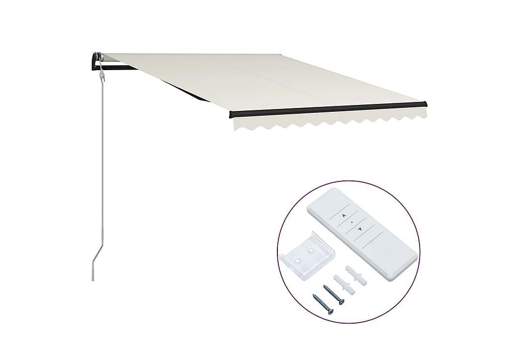 Foldemarkise Automatisk Betjening 300X250 cm Cremefarvet - Havemøbler - Solafskærmning -
