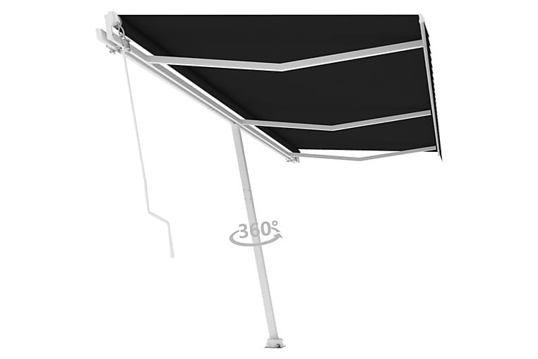 fritstående markise 600x300 cm manuel betjening antracitgrå - Antracit - Havemøbler - Solafskærmning - Markiser