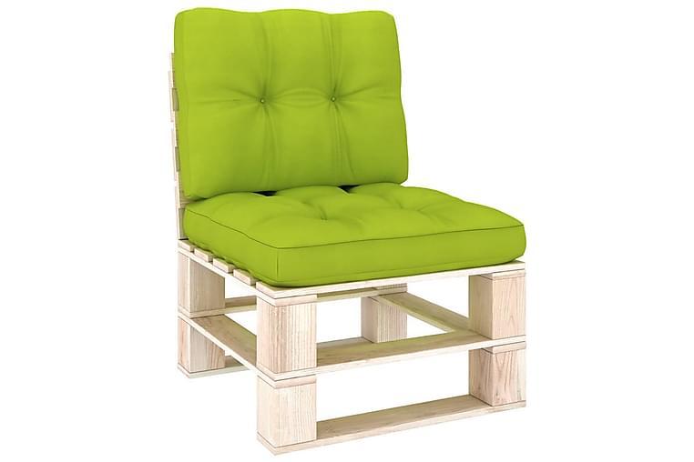 hynder til pallesofa 2 stk. lysegrøn - Grøn - Havemøbler - Solafskærmning - Markiser