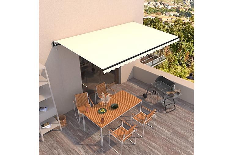 markise 500x300 cm automatisk betjening cremefarvet - Creme - Havemøbler - Solafskærmning - Markiser