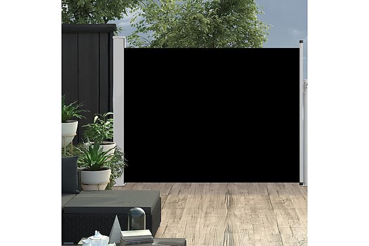sammenrullelig sidemarkise til terrassen 170 x 500 cm sort - Sort - Havemøbler - Solafskærmning - Markiser