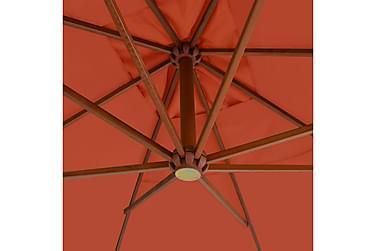Hængeparasol Med Træstang 400 X 300 Cm Terracottafarvet