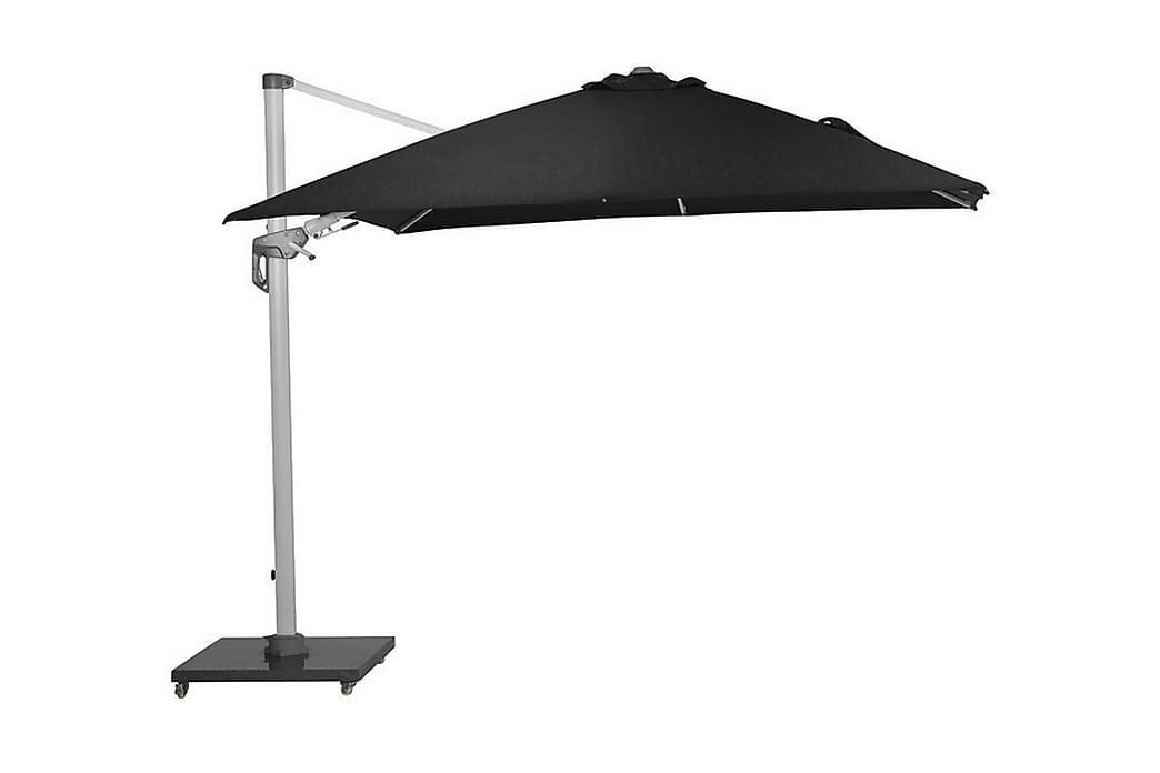Hawaii Deluxe Parasol 300x300 cm Hvid/Sort - Garden Impressions - Havemøbler - Solafskærmning - Parasoller