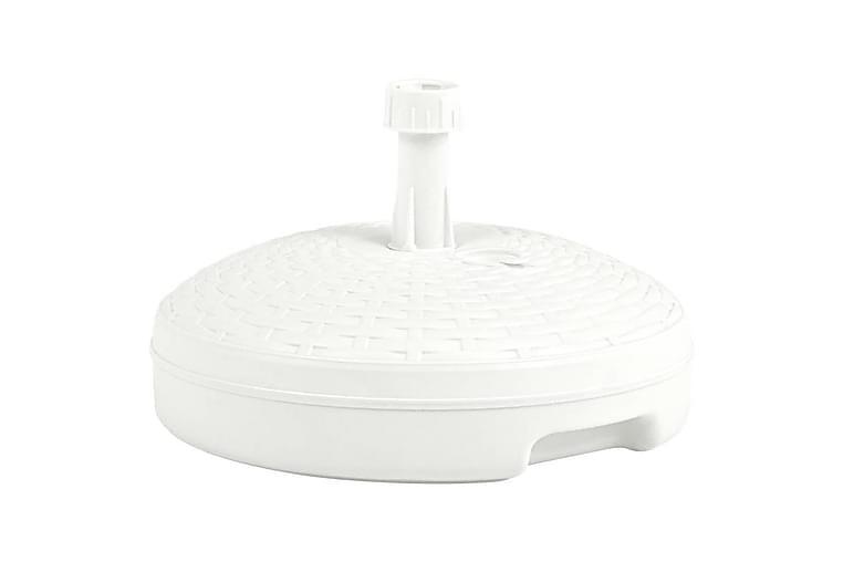 parasolfod 20 l sand- eller vandfyld plastik hvid - Hvid - Havemøbler - Solafskærmning - Parasoller
